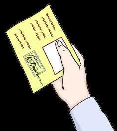 Hand mit einem Leseausweis