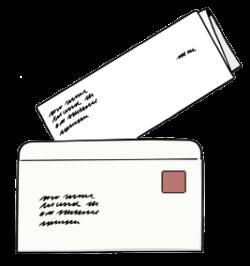 Brief steckt halb in einem Briefkuvert